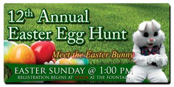 12th Annual Easter Egg hunt.  Easter Sunday
